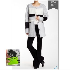 SAM EDELMAN | NWT | Faux Suede Colorblock Coat